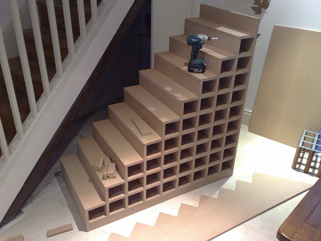 Bespoke Under Stairs Shelving: Wardrobe Company, Floating Shelves, Boockcase, Cupboards