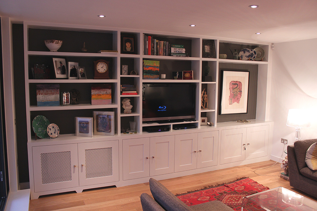 Brilliant Fine Corner Tv Shelf With Flat Screen Tv Next To White Media Console