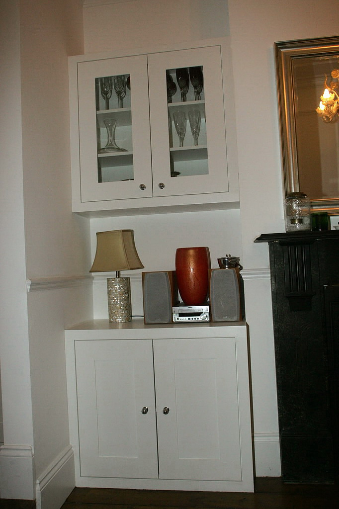 Custom Made Cabinet Doors On Custom Made Wall Alcove Cupboard With