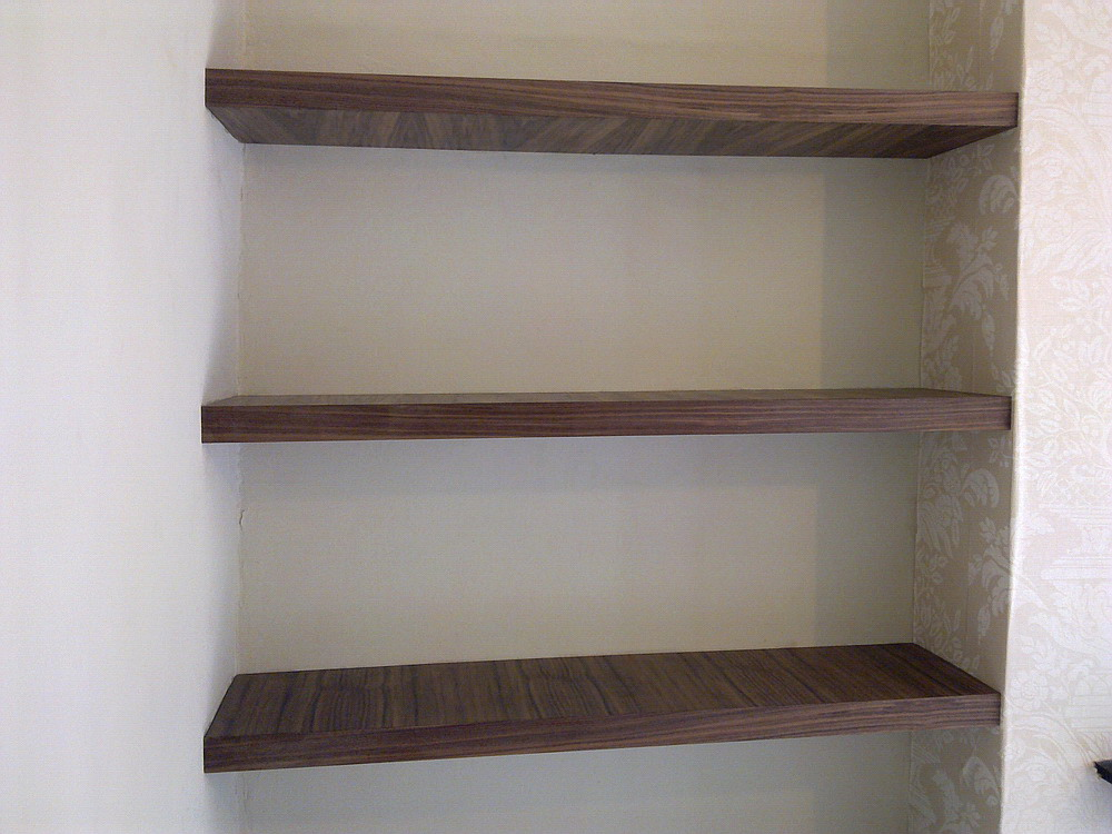 Walnut Veneer Shelves Walnut Veneer Floating Shelves