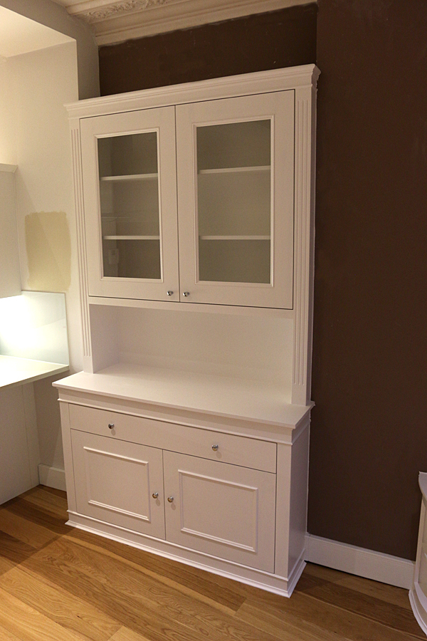Traditional bookcase with drawer and glass doors