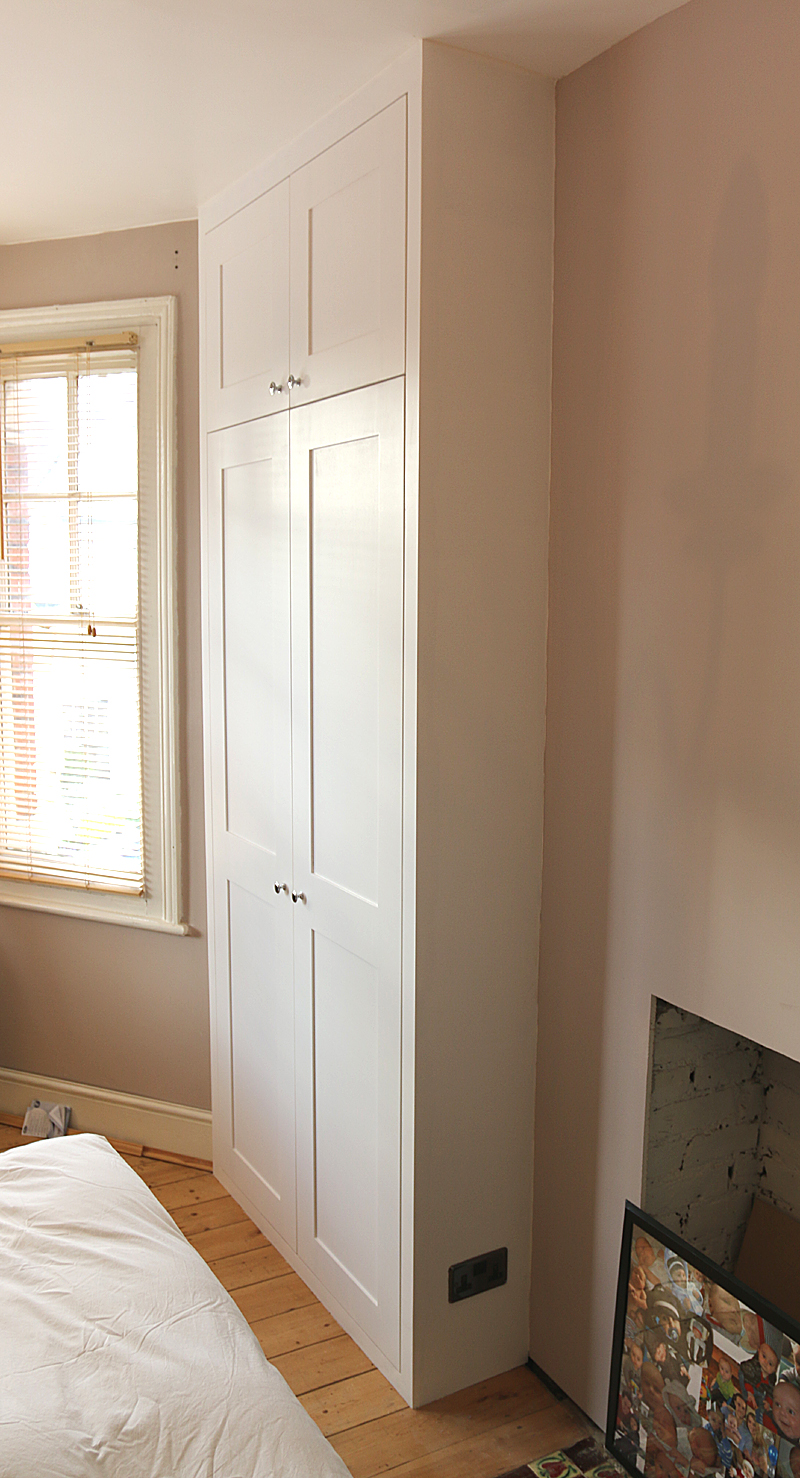 example of the power socket on the side of the fitted wardrobe
