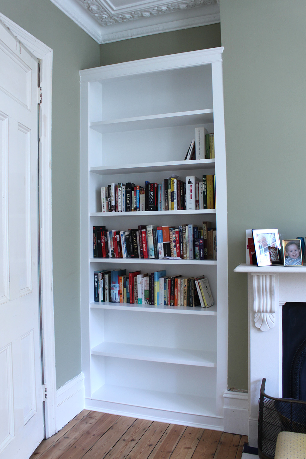 Fitted alcove bookcase London South west
