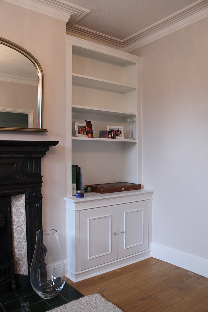 Fitted bookcase (Chiswick)