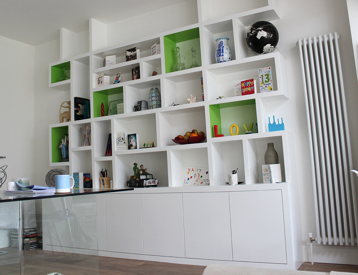 Fitted wardrobes and bookcases in london shelving