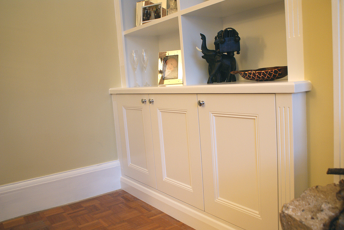 Traditional alcove bookcases and Radiator covers, Wimbledon