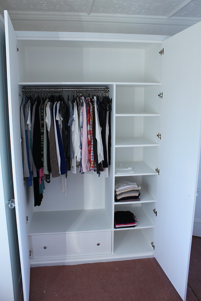 Wardrobe company floating shelves boockcase cupboards for Built in wardrobe designs for small bedroom