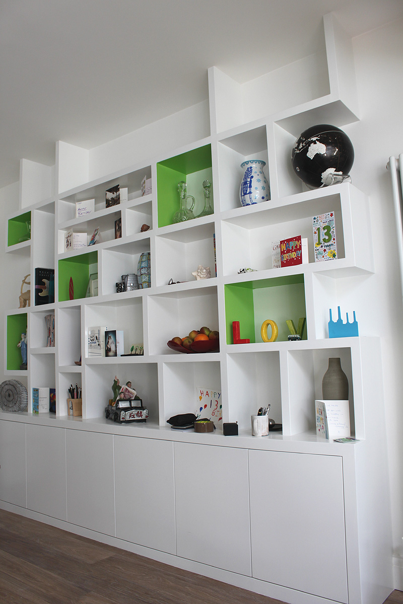 Wardrobe company floating shelves boockcase cupboards fitted furniture custom made to - Contemporary built in bookshelves ...