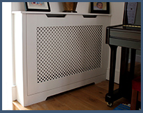 bespoke furniture like radiator cover is very popular in London