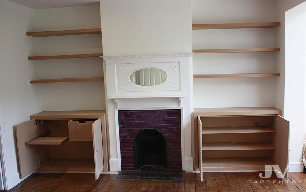 MDF alcove cupboards and shelves