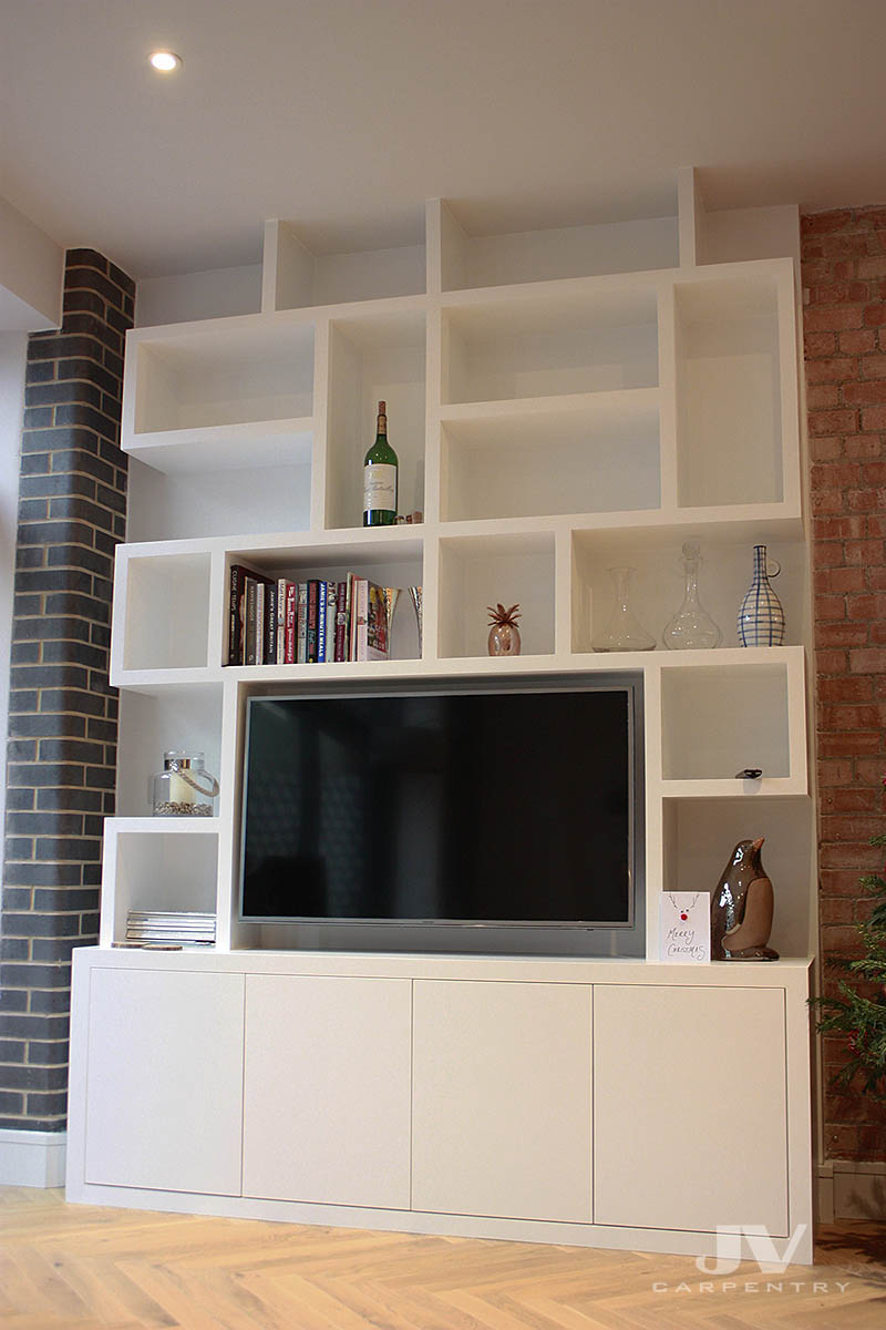 fitted cupboards with shelves
