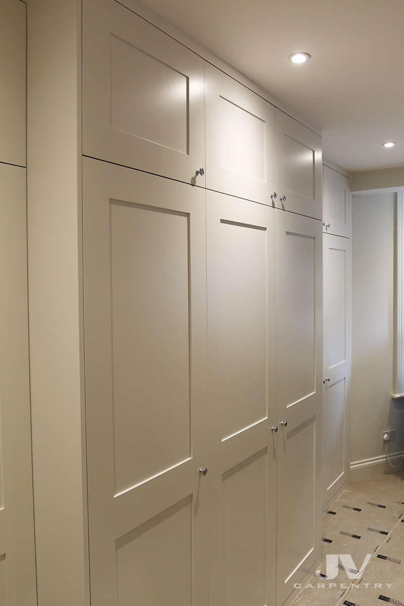 Fitted wardrobe idea - cover your chimney breast with the wardrobes