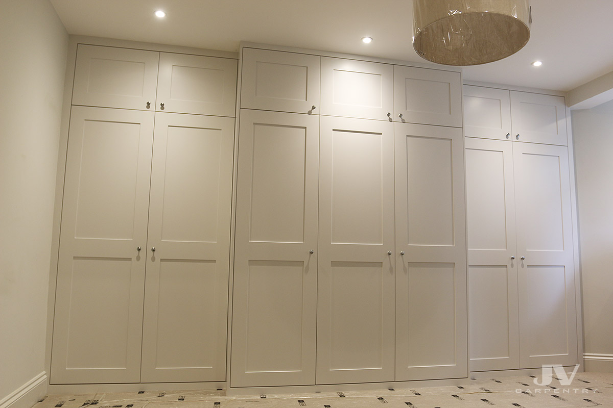 Super Built in wardrobes around chimney breast | JV Carpentry YF19