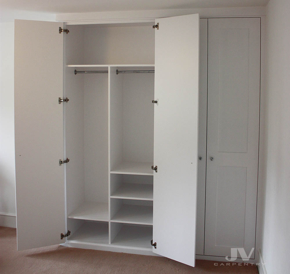 Bespoke wardrobe interior design. This picture showing an idea how to manage the space inside the wardrobe