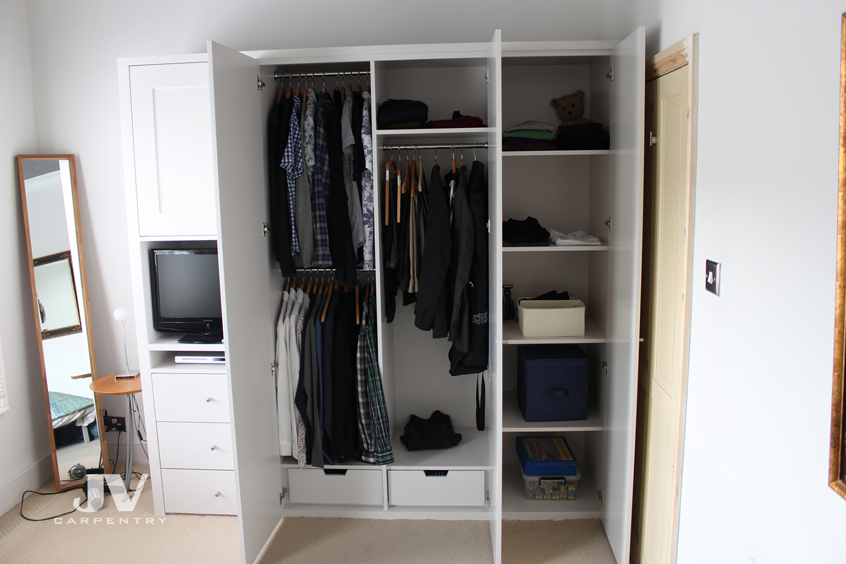 Small Built In Wardrobe Bespoke Fitted Wardrobe Small