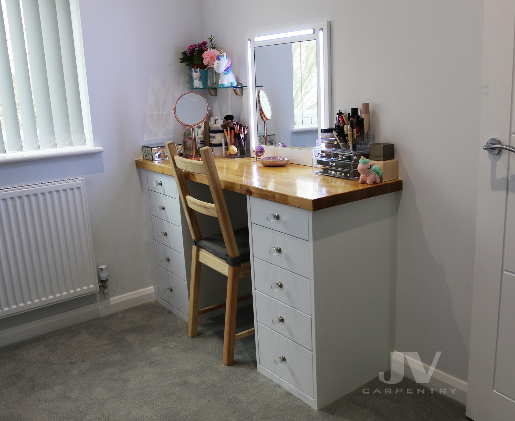 toilet table in dressing room
