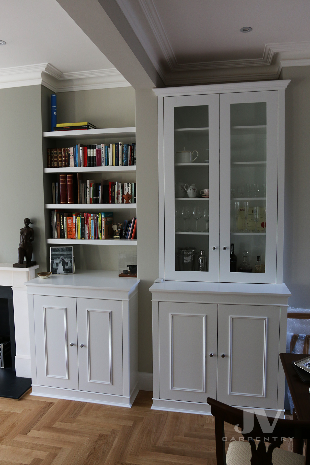 Fitted Alcove display unit and floating shelves -2