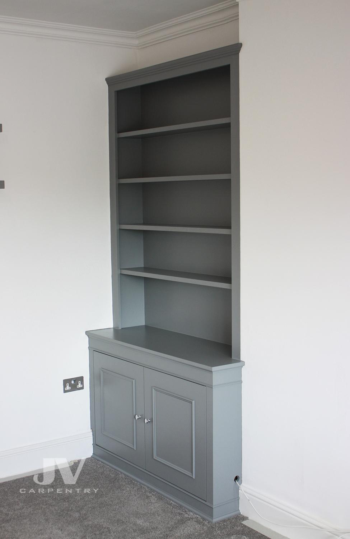 Dark alcove bookshelves (LHS)
