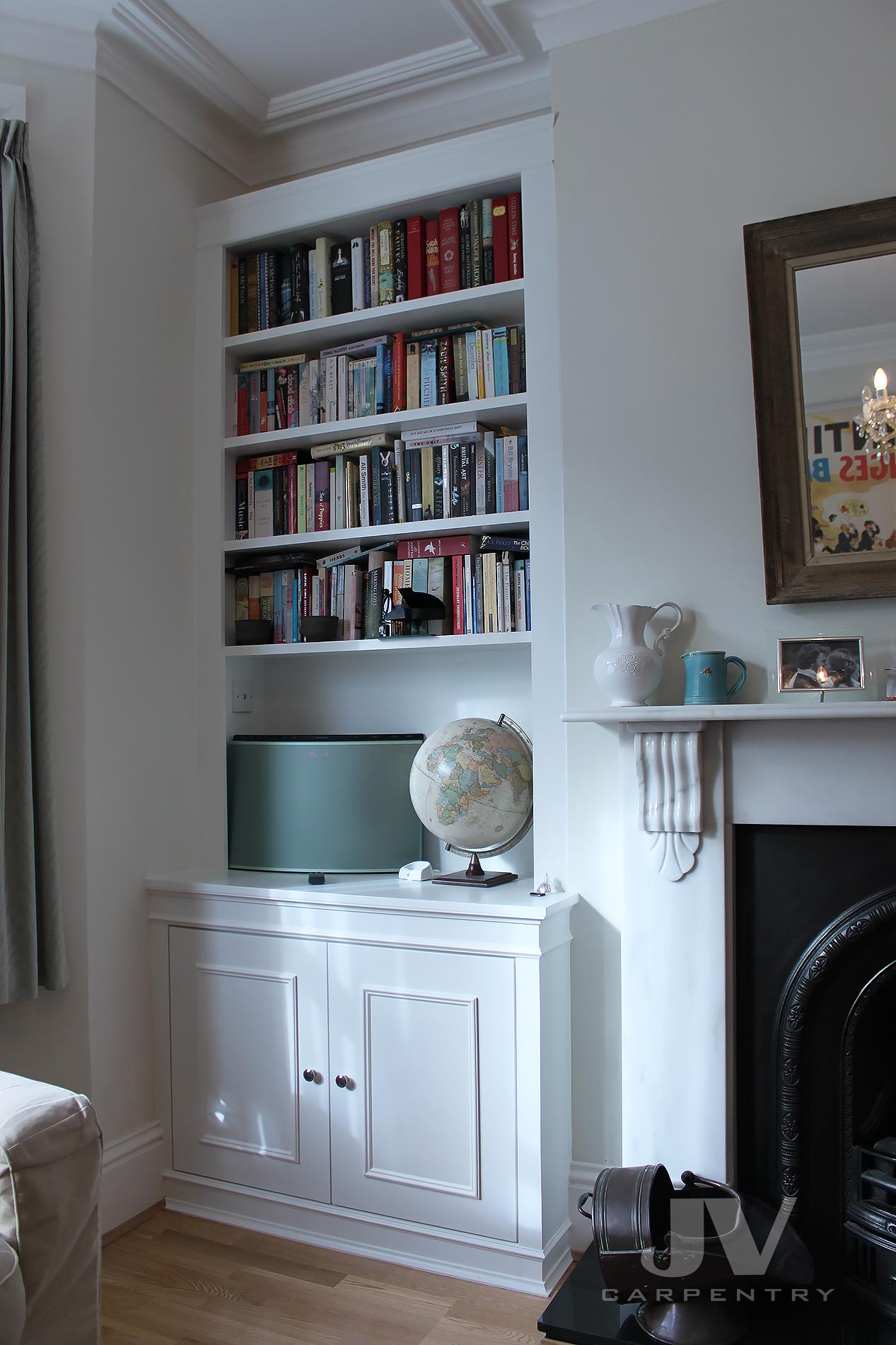 white alcove bookcase. idea 6 -1