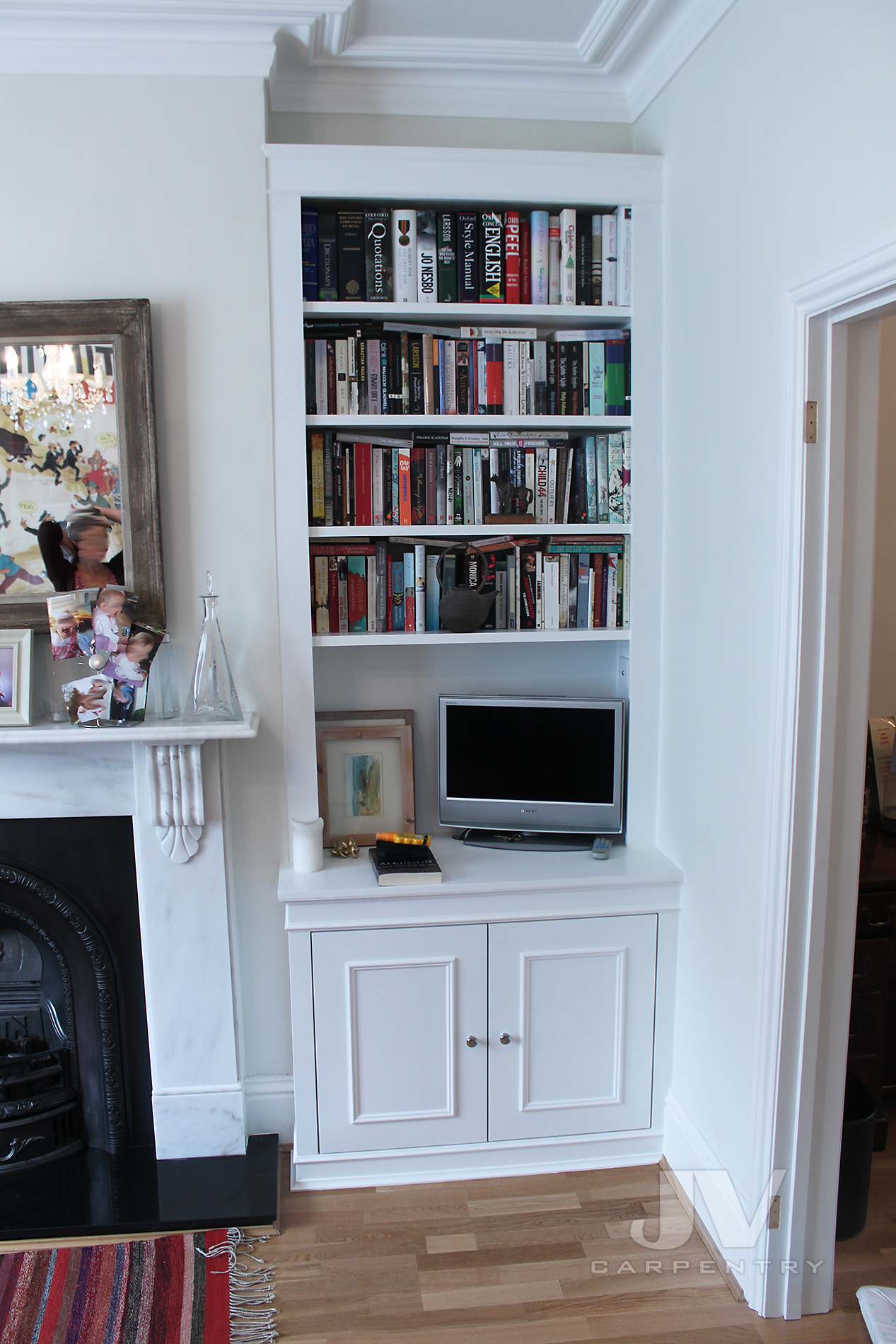 white alcove bookcase. idea 6 - 2