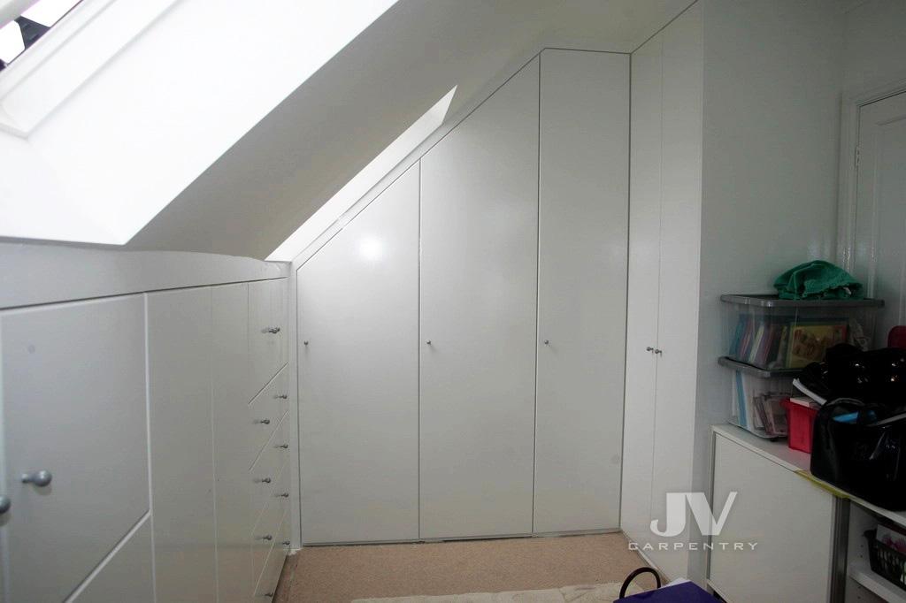 attic wardrobe L-shaped