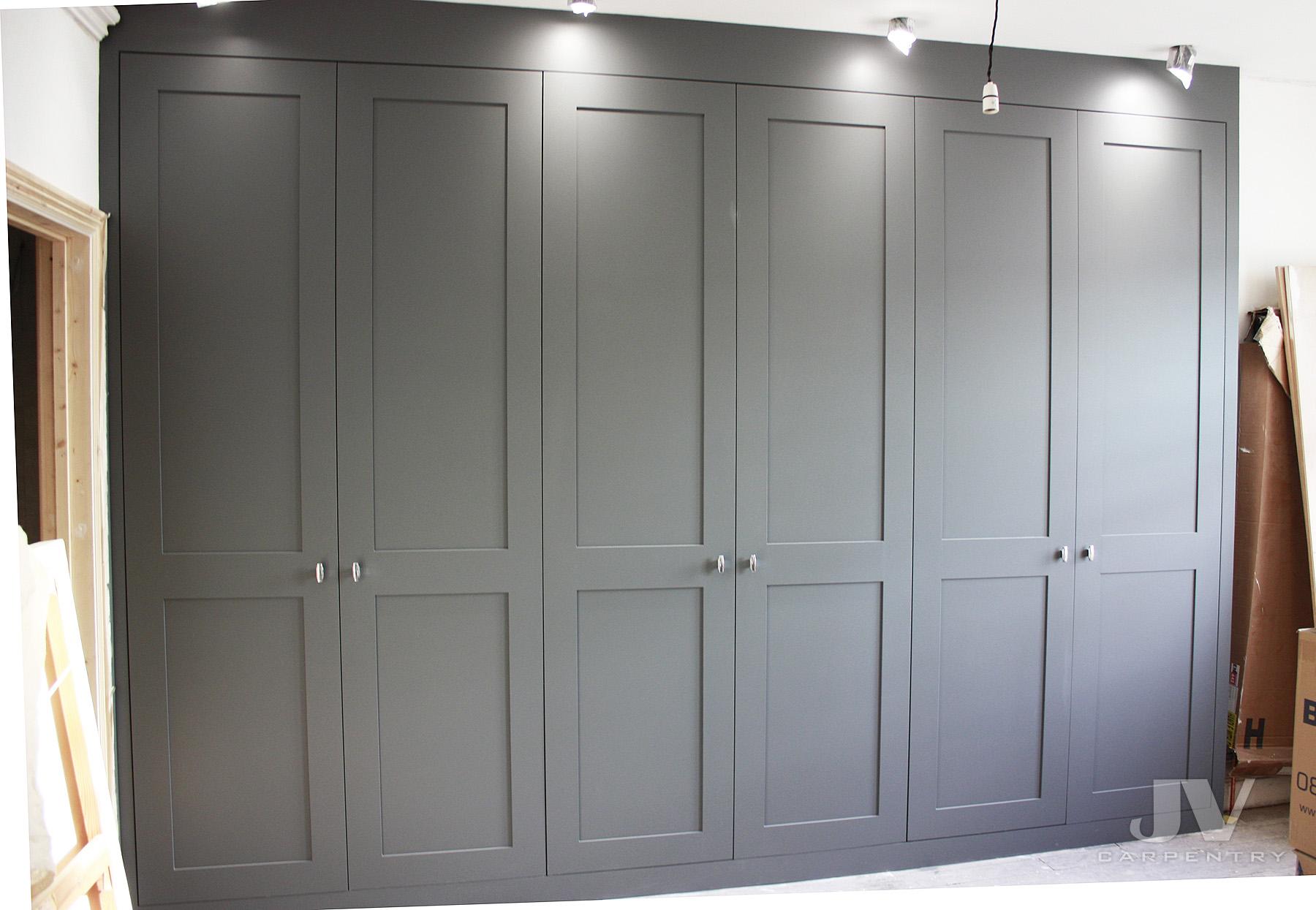 Grey shaker wardrobe