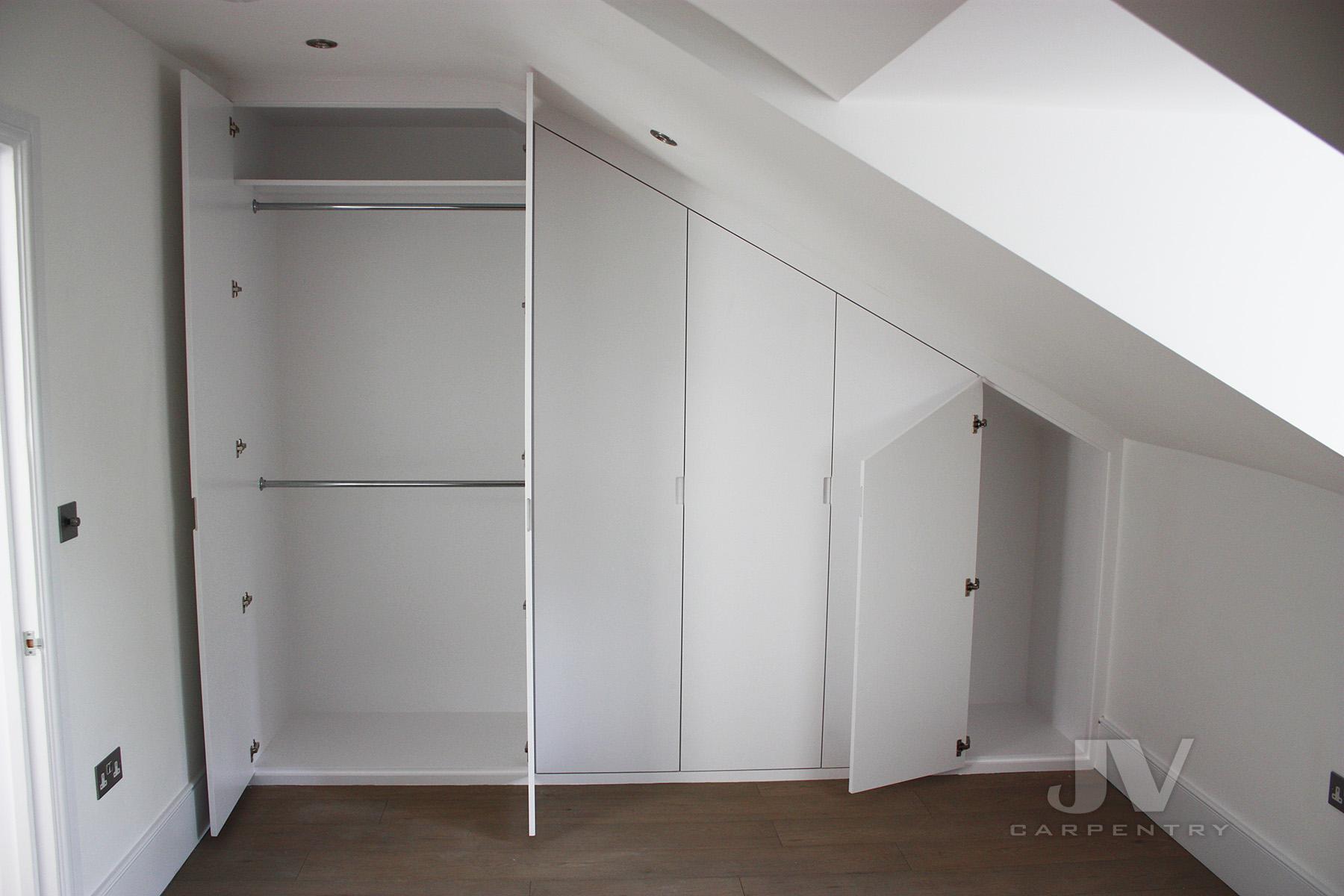 loft fitted wardrobe interior