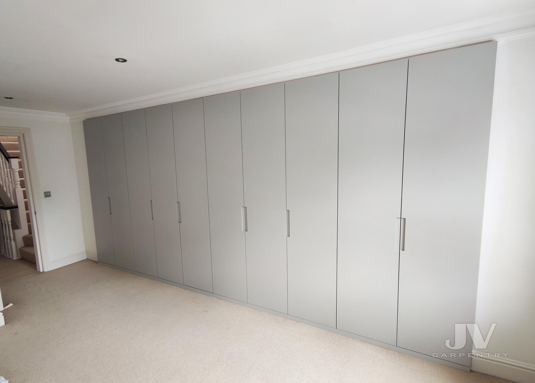 Contemporary grey wardrobe