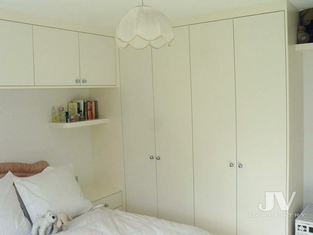 wardrobe with overhead storage and bedside tables-1