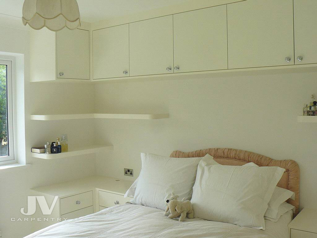 wardrobe with overhead storage and bedside tables-2