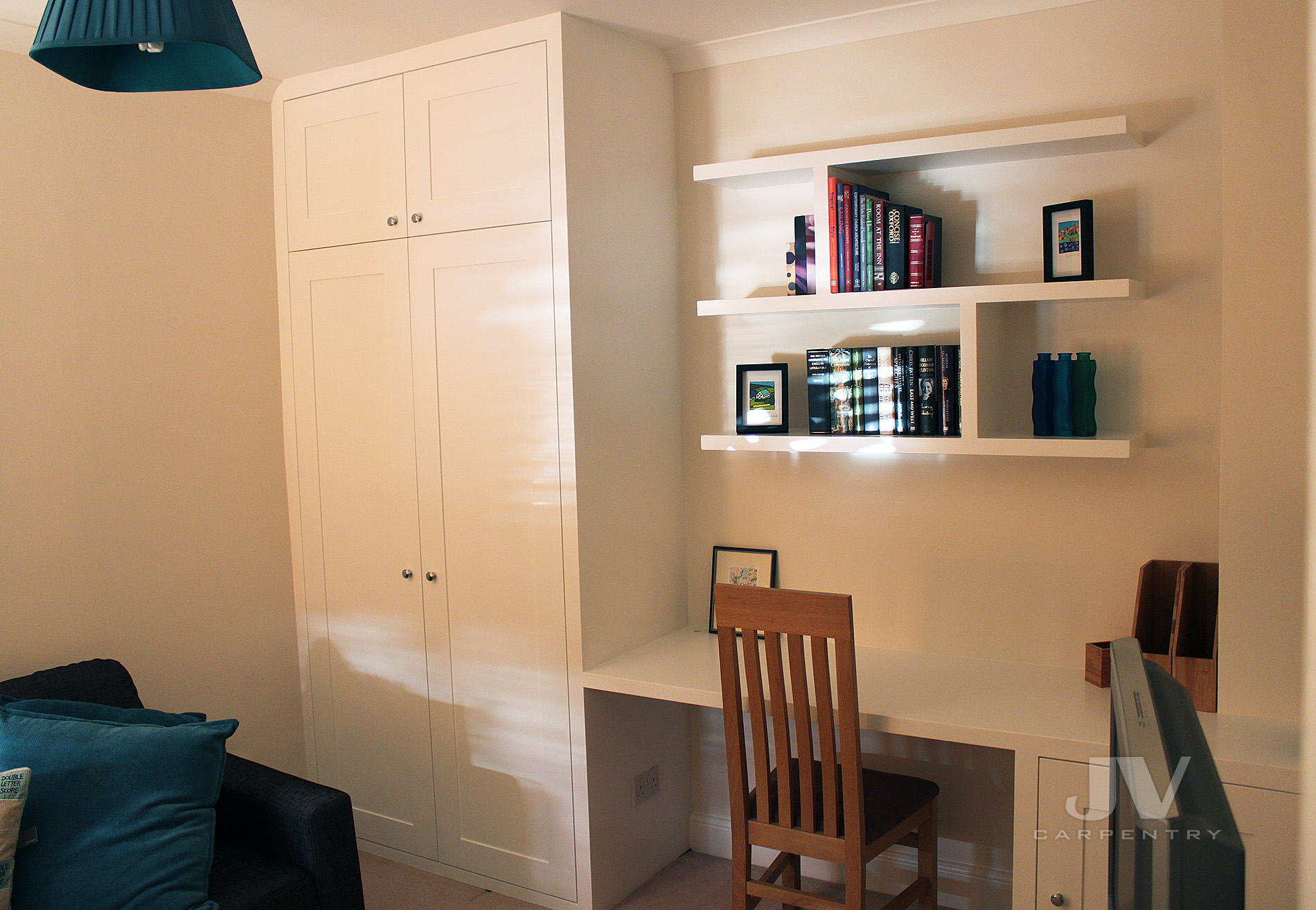 wardrobe with dressing table on the side