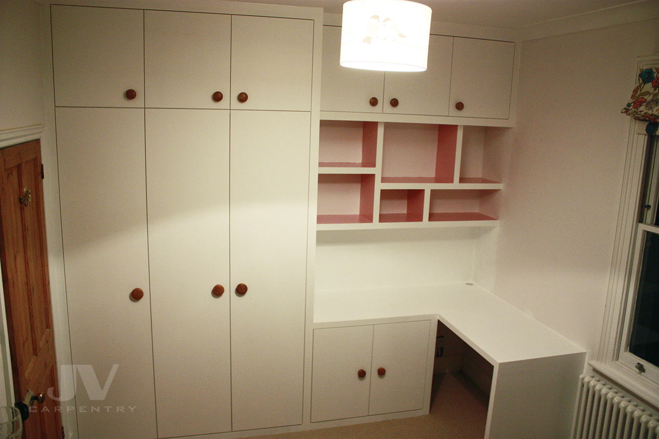 wardrobe with desk for small bedroom
