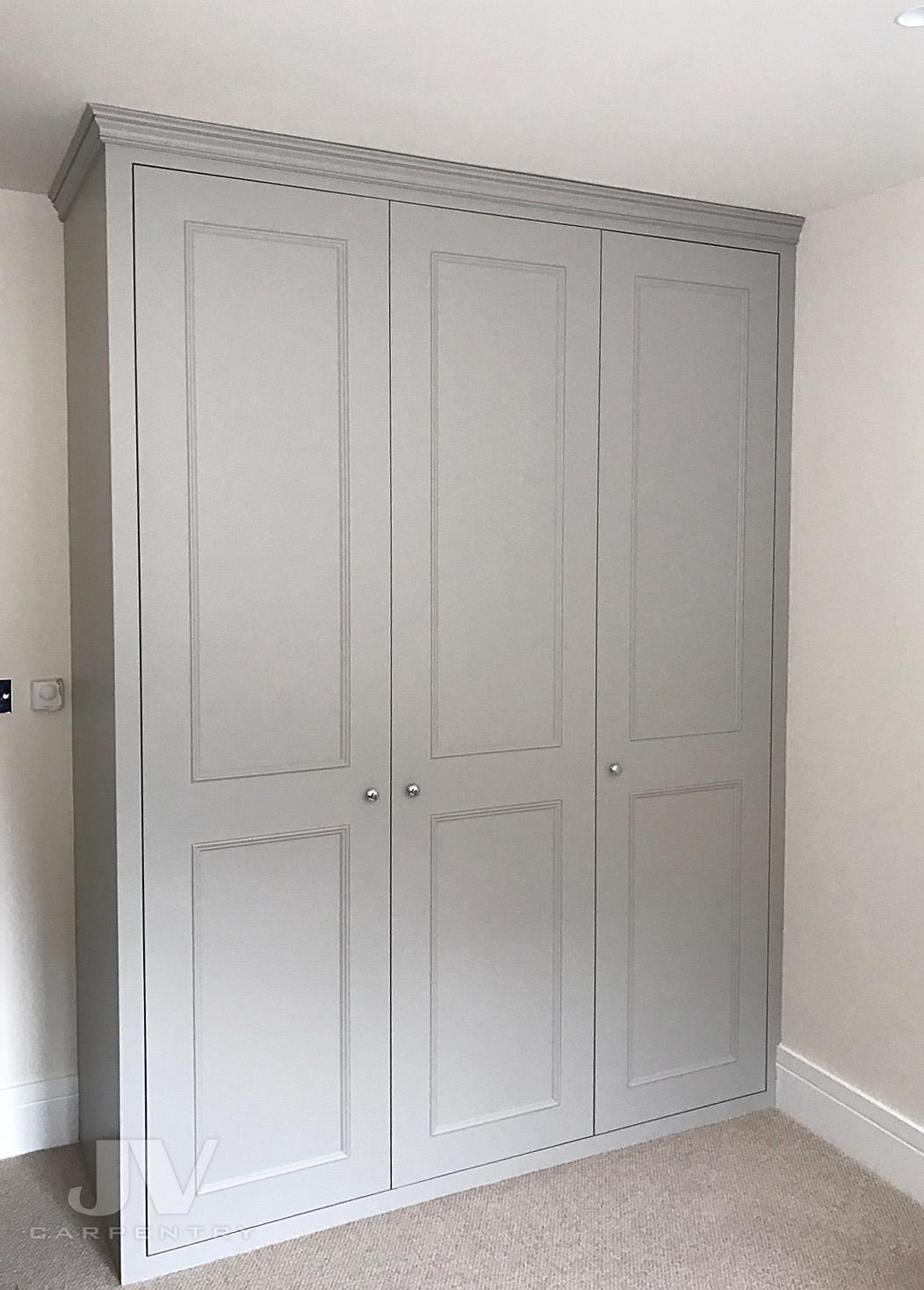 grey built-in wardrobe