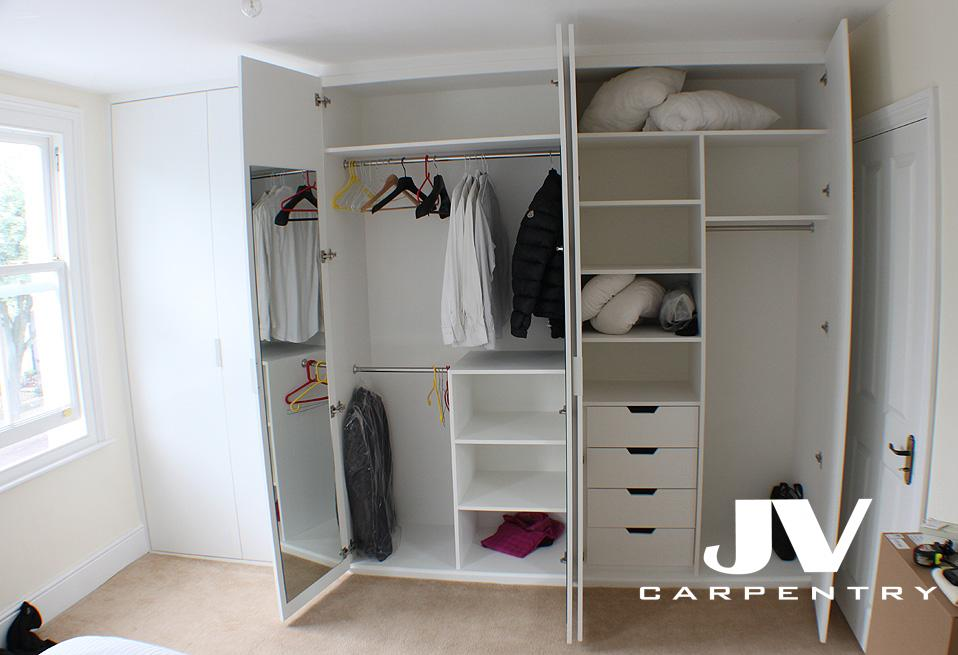 interesting idea on how to use wardrobe space inside