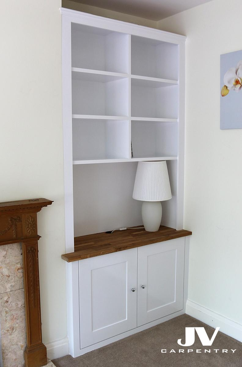 Fitted Alcove Cupboards, Bookshelves and Bookcases | JV ...