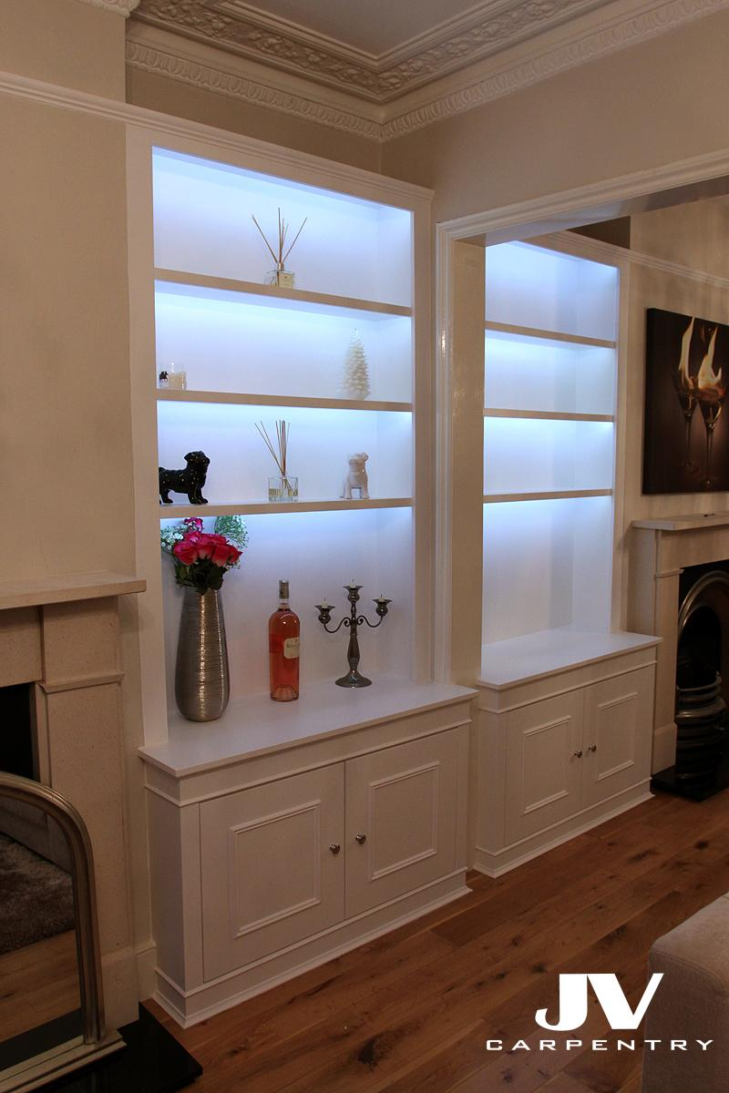 Fitted Alcove Cupboards Bookshelves And Bookcases Jv