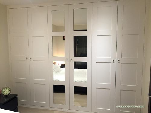 Wardrobe with mirror panels