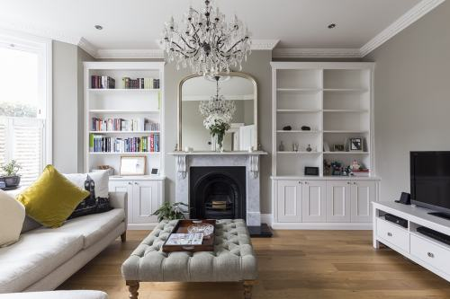 Traditional alcove bookcases