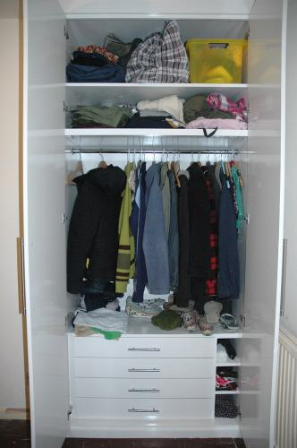 Drawers in wardrobe
