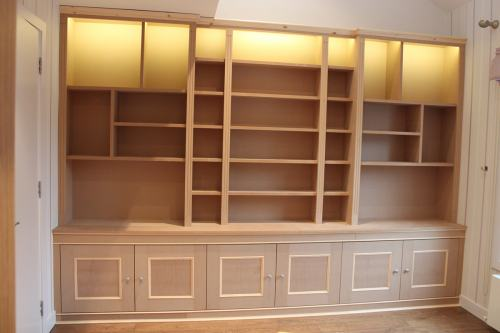 Fitted bookcase light
