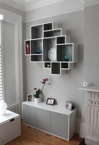 Modern fitted bookcase