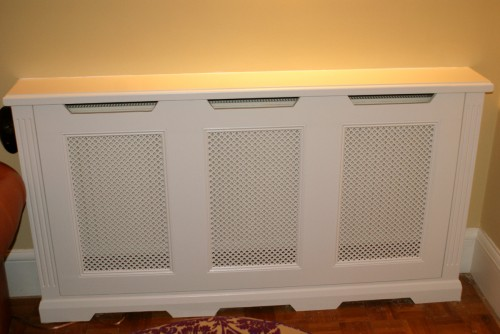 Radiator cover fitted