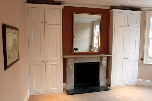 Shaker beaded fitted alcove wardrobes