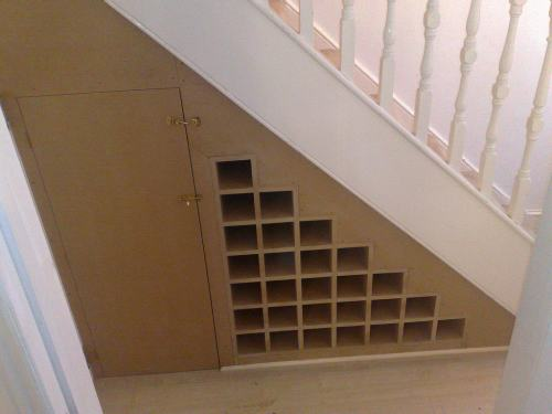Shepherds bush wine rack under stairs