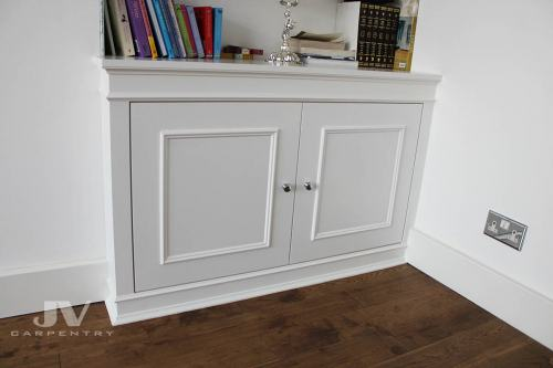 alcove fitted cupboard