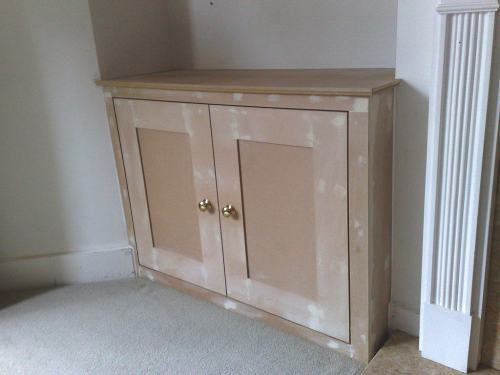 alcove cupboard unpainted