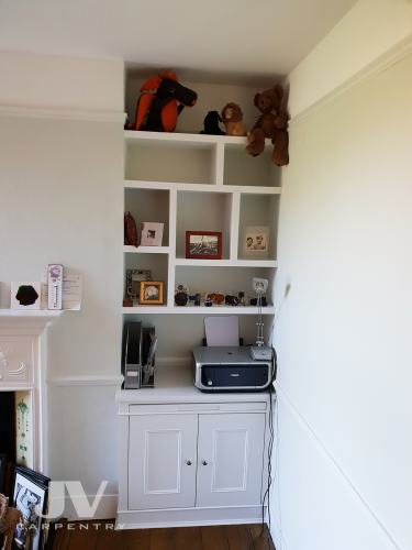 alcove cupboard with pull out desk