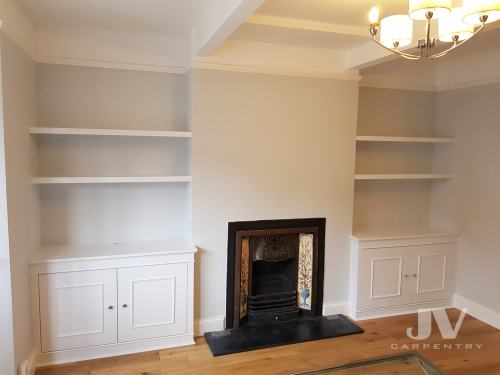 alcove cupboards with shelves1