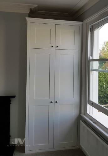 bespoke fitted alcove wardrobe