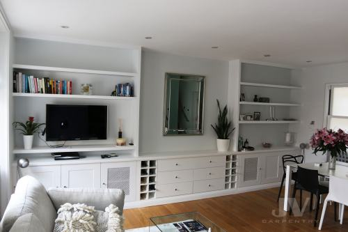 Bespoke Livingroom fitted cabinets and shelving